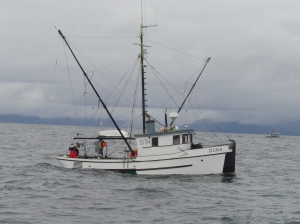 F/V Duna trolling for salmon