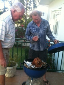 Martin & Greg at the Braai, Christmas 2013